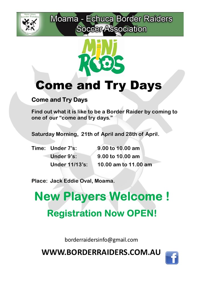 2018  Come and  Try  Day